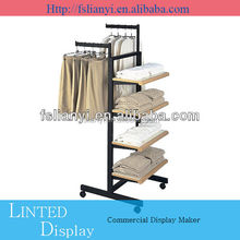 Cheap portable metal free standing display rack stand for hanging item