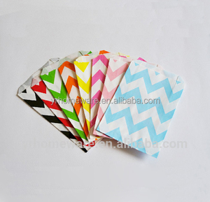 25 Chevron Stripe Polka Dot Paper Treat Bags, Party Favor Bags Party Supplies