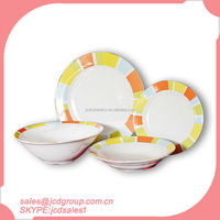 On Sale 19pcs porcelain dinner sets for South America vajilla