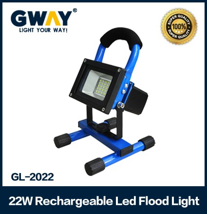 Portable 22watt rechargeable led flood light