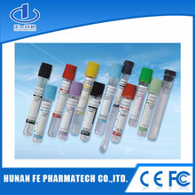Plastic medical vacuum blood collection tube