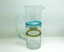 scissor-cut color belt bubble glass pitcher