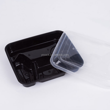 Disposal plastic bento take away fast food box lunch box
