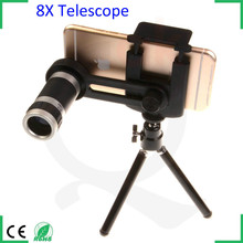 Optical Instruments monocular 7x18 telescope 8x zoom telephoto lens for smartphone with tripod and adjustable holder stand