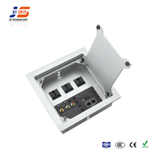 JS-Z400 with AV,HDMI,RJ45,USB,VGA Conference Table Multimedia Desktop Socket Cable connection box