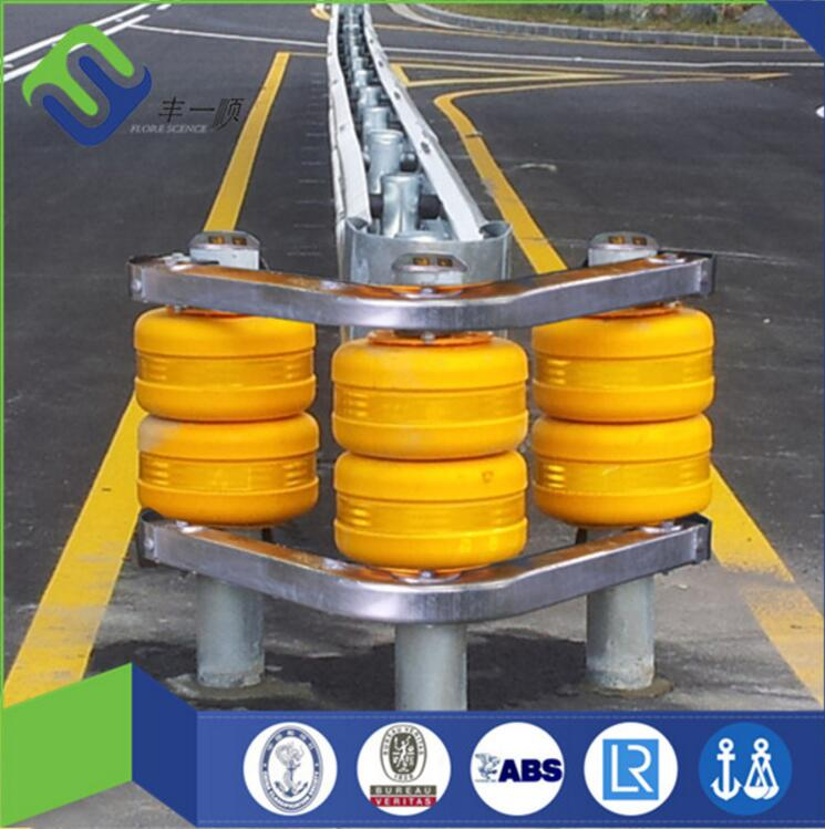 ISO9001 ISO14001 factory designed and made Road Roller highway safety guardrail with Q235 and Q265 steel Frame