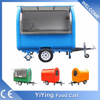 YY-FR220B High Quality stainless steel Mobile pink food stall