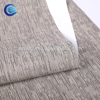 China ondersteuning 100% polyester linnen 3 pass verduisterende stof frie proof frie proof blind gordijn
