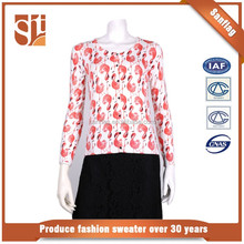 New women fashion warm designs hand knitted sweater,sweater knitted from china