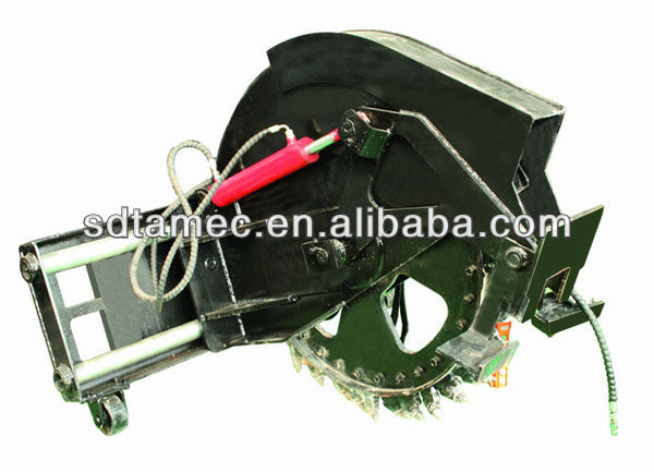 Rock saw for skid steer loader / bobcat attachment )