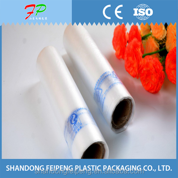 fruit and vegetables packed clear plastic rolling bag