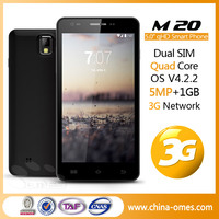 "European Market Popular Model OMES Mobile M20 5"" 5inch 5 inch QHD IPS 1G+4G Android 4.2 MTK6582 quad core china smart phone"