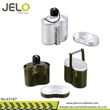 O.D Green 1L Aluminum Canteen With Cup & Lid Army Survival Kit Military level for Camping