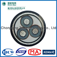 8.7/10kV XLPE Insulated 3 Cores 120sqmm electrical cable -State Grid