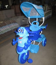 2018 Children cartoon kids tricycle for 1 2 3 4 years old kid with musical handle pushing three wheels bike wholelsale exporter