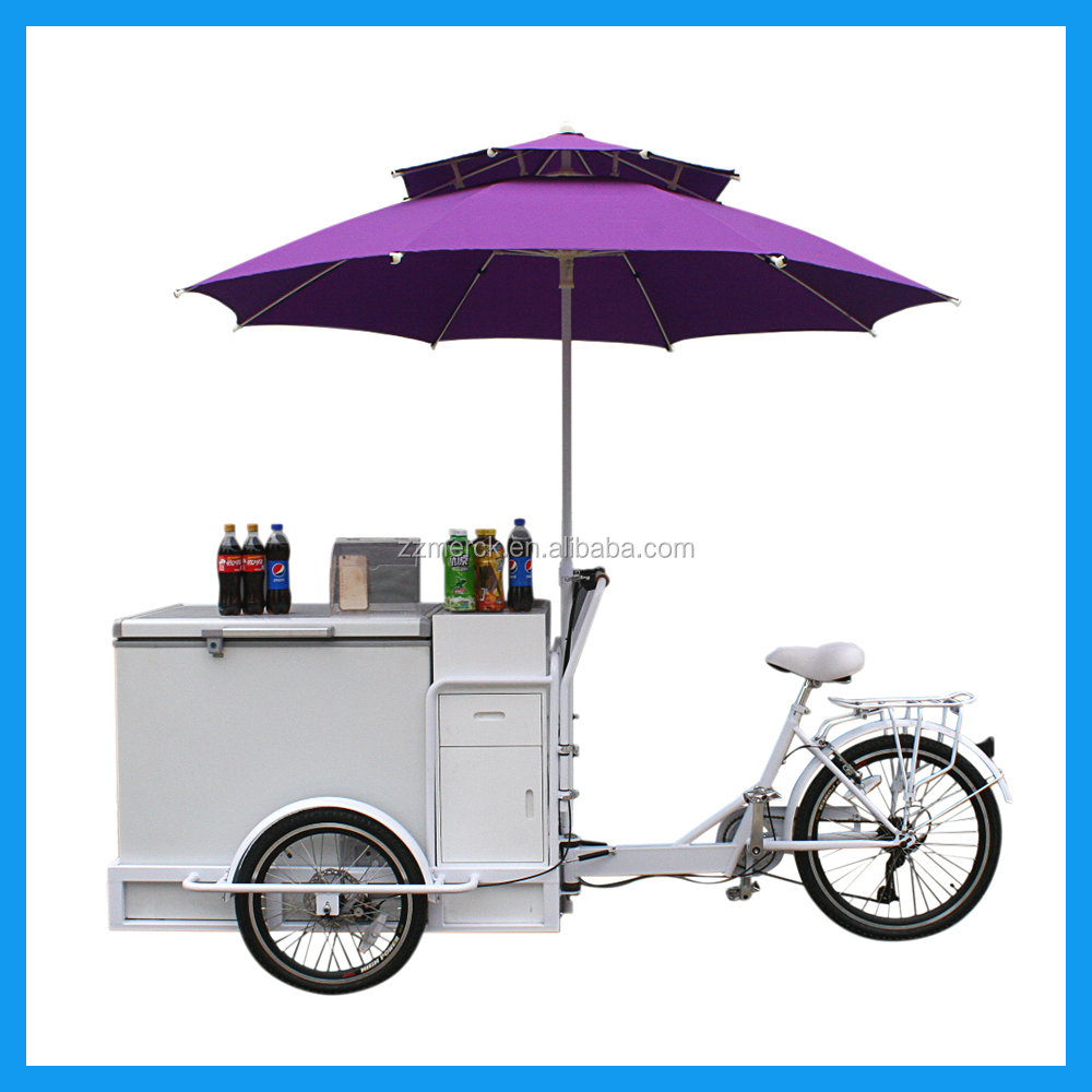 Wedding Party Service Three Wheeled Icecream Cargo E Bicycle