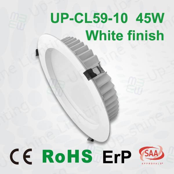 Factory price CE EMC LVD RoHS ErP dimmable LED driver 90LM/W light efficacy silver led downlight 10 inch