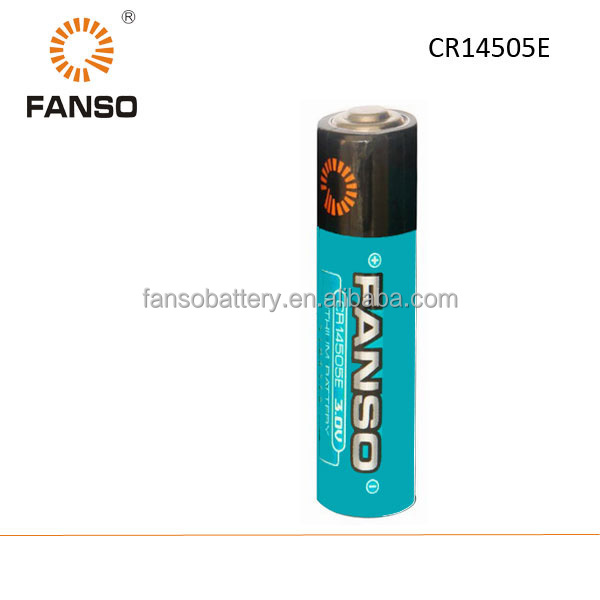 CR14505E AA 3V 1400mah lithium Li-mno2 primary battery