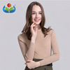 High quality warm women wool knitted custom turtleneck sweater