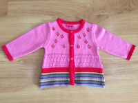 Fashion little baby girls embroidered cardigan sweater