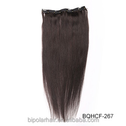 No Shed No Tangle Unprocessed Virgin Human Hair Cuticle Remy Clip Indian Hair Extensions Double Weft