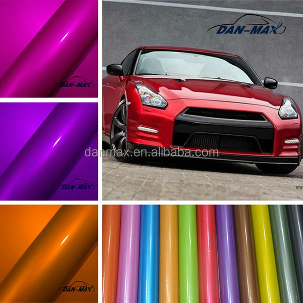High Adhesive Glossy Pearl Chrome Metallic Vinyl Auto Wrap Decal