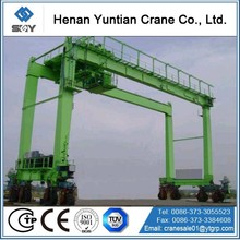 Loading And Unloading 40Ton RTG Container Handling Gantry Crane
