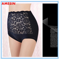 Elastic Free Cotton Underwear For Women Sexy See-through Lace Panties
