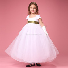 Latest Cap Sleeve Frocks Designs Little Bridesmaid Girls Fancy Dress