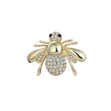 Womens Dazzling Diamante Brooch Pin Lovely Alloy Bee Brooches Jewelry