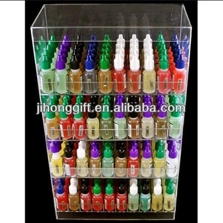 clear acrylic e-cigarette display stand/e-liquid display case/e liquid bottle display