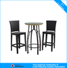 leisure aluminum bar furnituret flat rattan table and chair CF1308