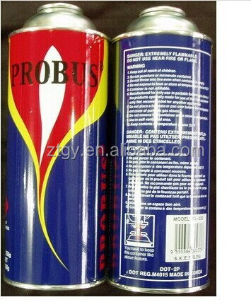 Butane Gas Cartridge straight aerosol metal box for all kinds of packaging aerosol can