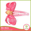 Pink Decoration Bowknot Bow Metal Barrette
