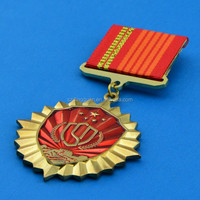 High quality brass military army badge medal,military medals for sale,military style medal ribbons