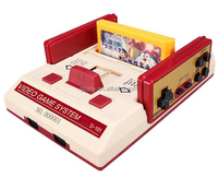 New mode Video Game Console d101 FC Red White Classic TV Game Consoles Yellow Cards Plug-in Card Games Family Game machine