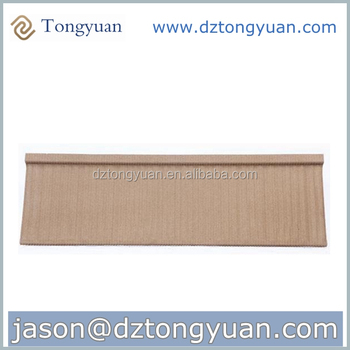 new design factory hot selling price lowest wood shape metal roofing tiles chips