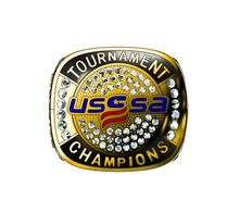 Custom Your Design USA usssa TOURNAMENT FINALIST CHAMPIONS Silver and Gold Championship ring Cheap Price