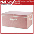 NAHAM Wholesale foldable fabric closet storage box with cover