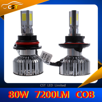 2016 New Design Replacing HID&Halogen COB Three Sides Emitting LED 40W 3600lm Automobile Headlight