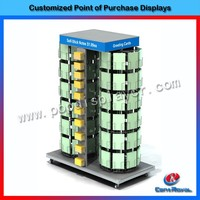 2017 new products retail store metal gift greeting card display stand
