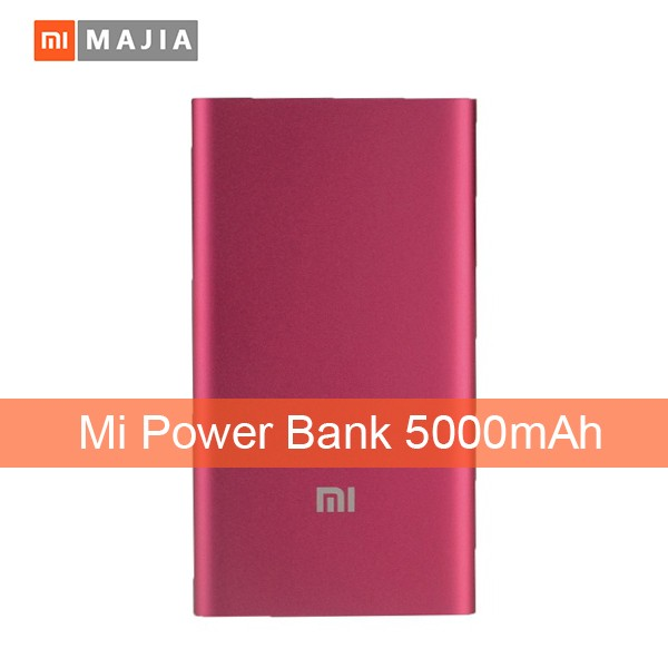 Original Xiaomi Mi Power Bank 5000mAh External Battery New Portable Mobile Power Bank MI Charger 5000 mAh for Phones,Pad,MP3