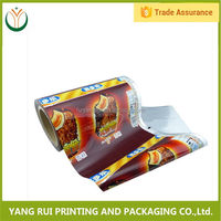 Fashion Fda Certificated Resealable plastic heat shrink film roll,airtight food packaging roll films
