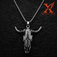 Wholesale Solid 316l Stainless Steel Lucky OX Head Pendant