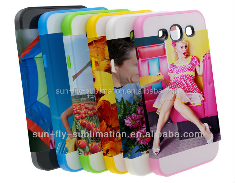 2 in 1 3D Sublimation Phone Cover/ Case for Samsung S3/dual protective phone case for Samsung S3/
