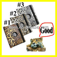 For The New iPad 4 3 2 Leopard Rotating Magnetic Leather Case Stylish Smart Cover Wholesale Cheap Lot Cases Covers 3 colors 2