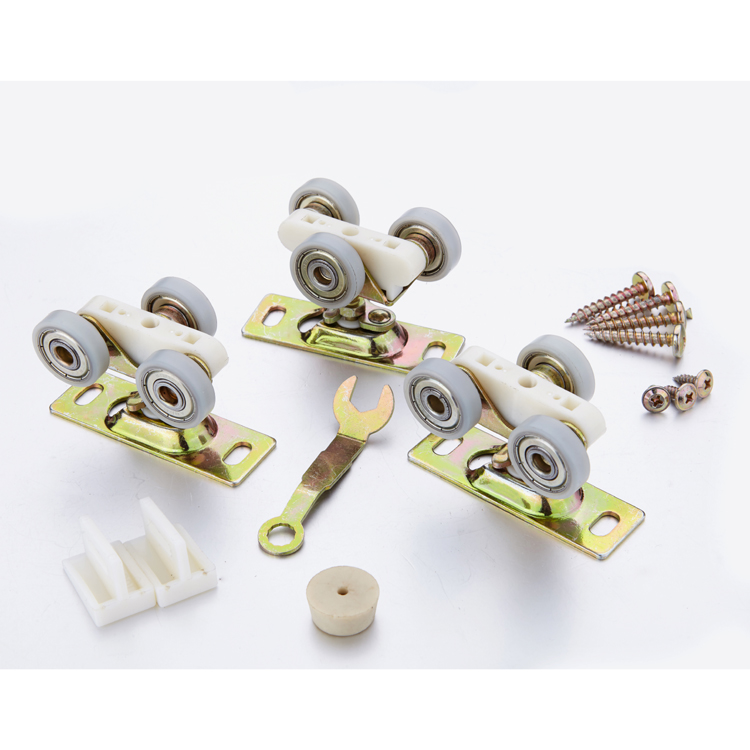Facoty supply bypass sliding door wheels roller wheel nylon sliding door & sliding wardrobe door roller