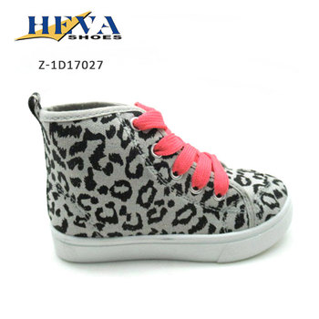 Autumn shoes leopard printing wholesale girls lace-up Canvas Shoe