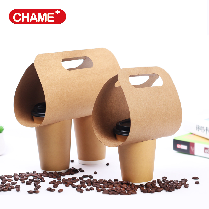 recyclable kraft/cardboard paper coffee paper cup holder/carrier