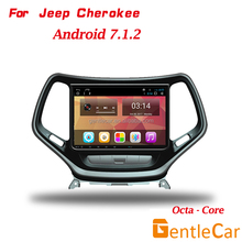 New arrival multimedia Octa-core Android 7.1 Car GPS Navigation for Jeep Cherokee